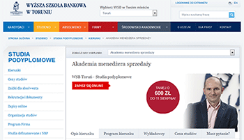 Akademia Menedżera Sprzedaży w Wyższej Szkole Bankowej w Toruniu